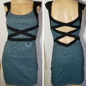 Free People Sexy Teal strappy cut out open back XS